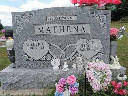 MATHENA, FLOSSIE L - Pike County, Ohio | FLOSSIE L MATHENA - Ohio Gravestone Photos