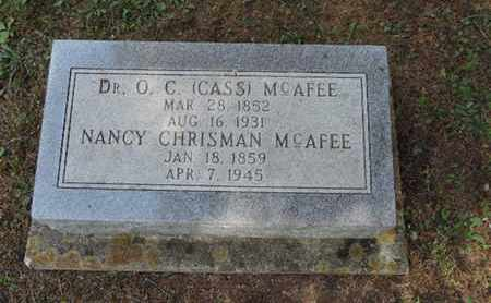 MCAFEE, NANCY - Pike County, Ohio | NANCY MCAFEE - Ohio Gravestone Photos
