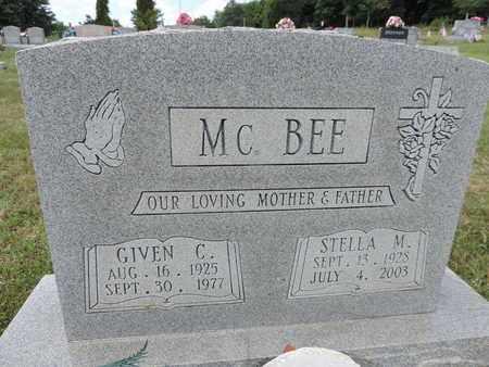 MCBEE, GIVEN C. - Pike County, Ohio | GIVEN C. MCBEE - Ohio Gravestone Photos