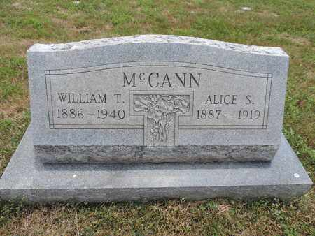 MCCANN, WILLIAM T. - Pike County, Ohio | WILLIAM T. MCCANN - Ohio Gravestone Photos