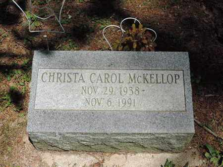 MCKELLOP, CHRISTA CAROL - Pike County, Ohio | CHRISTA CAROL MCKELLOP - Ohio Gravestone Photos