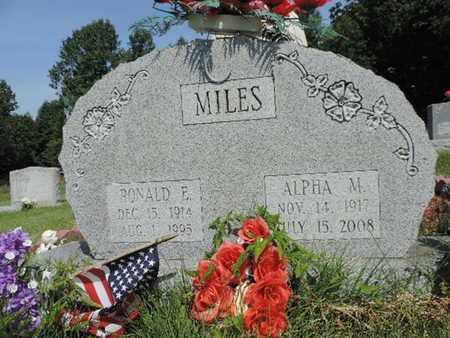 MILES, ALPHA M. - Pike County, Ohio | ALPHA M. MILES - Ohio Gravestone Photos