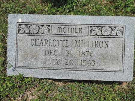 MILLIRON, CHARLOTTE - Pike County, Ohio | CHARLOTTE MILLIRON - Ohio Gravestone Photos