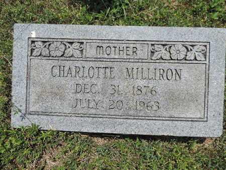 MILLIRON, CHARLOTTE - Pike County, Ohio | CHARLOTTE MILLIRON - Ohio Gravestone Photos