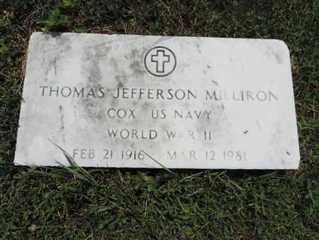 MILLIRON, THOMAS JEFFERSON - Pike County, Ohio | THOMAS JEFFERSON MILLIRON - Ohio Gravestone Photos