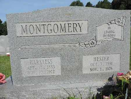 MONTGOMERY, HARKLESS - Pike County, Ohio | HARKLESS MONTGOMERY - Ohio Gravestone Photos