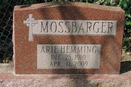 MOSSBARGER, ARIE - Pike County, Ohio | ARIE MOSSBARGER - Ohio Gravestone Photos