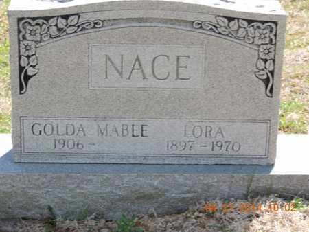 NACE, LORA - Pike County, Ohio | LORA NACE - Ohio Gravestone Photos