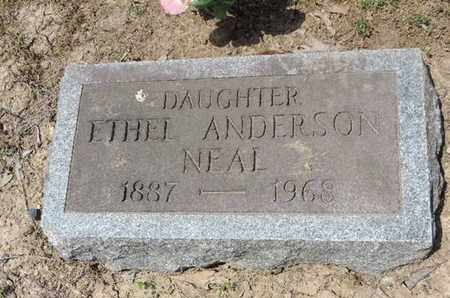 ANDERSON NEAL, ETHEL - Pike County, Ohio | ETHEL ANDERSON NEAL - Ohio Gravestone Photos
