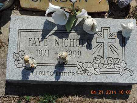 NICHOLS, FAYE - Pike County, Ohio | FAYE NICHOLS - Ohio Gravestone Photos