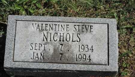 NICHOLS, VALENTINE STEVE - Pike County, Ohio | VALENTINE STEVE NICHOLS - Ohio Gravestone Photos