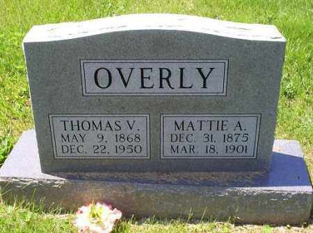 OVERLY, MATTIE A. - Pike County, Ohio | MATTIE A. OVERLY - Ohio Gravestone Photos