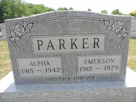 PARKER, EMERSON - Pike County, Ohio | EMERSON PARKER - Ohio Gravestone Photos