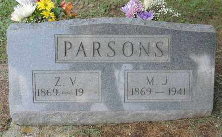 PARSONS, M.J. - Pike County, Ohio | M.J. PARSONS - Ohio Gravestone Photos