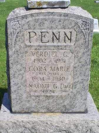 PENN, CORA MARIE - Pike County, Ohio | CORA MARIE PENN - Ohio Gravestone Photos