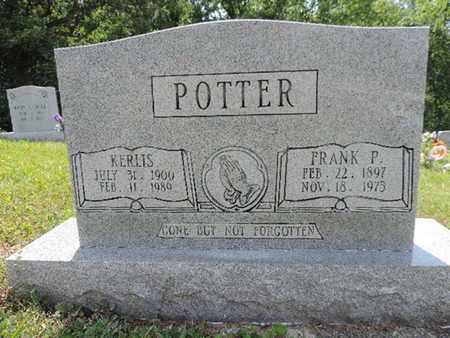 POTTER, FRANK P. - Pike County, Ohio | FRANK P. POTTER - Ohio Gravestone Photos