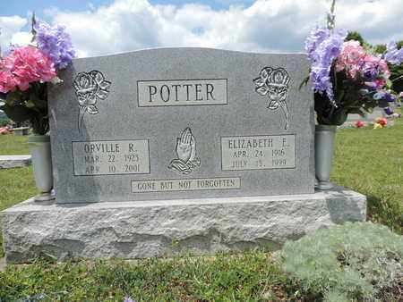POTTER, ELIZABETH E. - Pike County, Ohio | ELIZABETH E. POTTER - Ohio Gravestone Photos