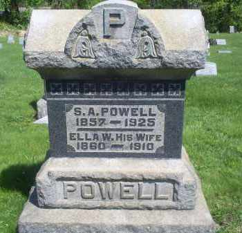 POWELL, ELLA - Pike County, Ohio | ELLA POWELL - Ohio Gravestone Photos