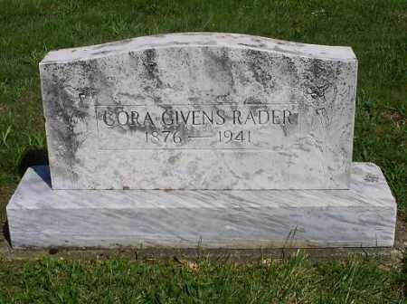 RADER, CORA - Pike County, Ohio | CORA RADER - Ohio Gravestone Photos
