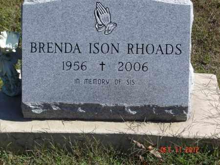 ISON RHOADS, BRENDA - Pike County, Ohio | BRENDA ISON RHOADS - Ohio Gravestone Photos