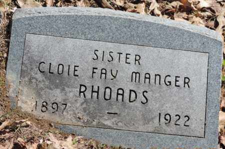 MANGER RHOADS, CLOIE FAY - Pike County, Ohio | CLOIE FAY MANGER RHOADS - Ohio Gravestone Photos