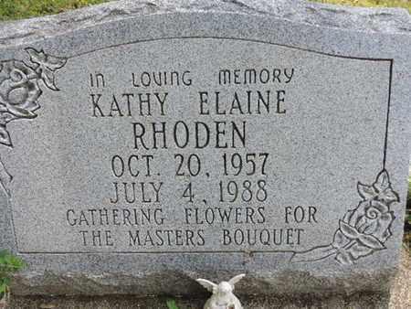 RHODEN, KATHY ELAINE - Pike County, Ohio | KATHY ELAINE RHODEN - Ohio Gravestone Photos
