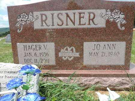 RISNER, HAGER V - Pike County, Ohio | HAGER V RISNER - Ohio Gravestone Photos