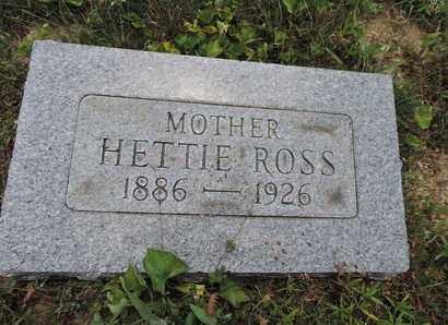 ROSS, HETTIE - Pike County, Ohio | HETTIE ROSS - Ohio Gravestone Photos