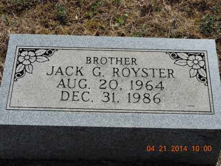ROYSTER, JACK G - Pike County, Ohio | JACK G ROYSTER - Ohio Gravestone Photos
