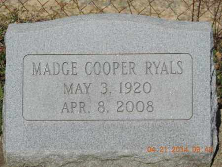 RYALS, MADGE - Pike County, Ohio | MADGE RYALS - Ohio Gravestone Photos