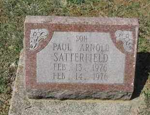 SATTERFIELD, PAUL ARNOLD - Pike County, Ohio | PAUL ARNOLD SATTERFIELD - Ohio Gravestone Photos