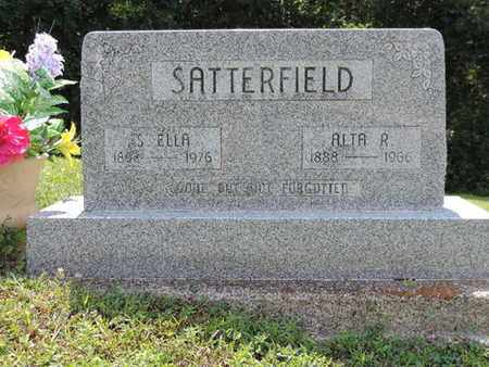 SATTERFIELD, S. ELLA - Pike County, Ohio | S. ELLA SATTERFIELD - Ohio Gravestone Photos