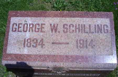 SCHILLING, GEORGE W. - Pike County, Ohio | GEORGE W. SCHILLING - Ohio Gravestone Photos