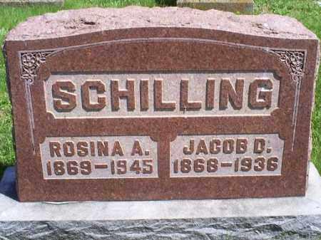 SCHILLING, JACOB D. - Pike County, Ohio | JACOB D. SCHILLING - Ohio Gravestone Photos