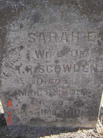 SCOWDEN, SARAH E - Pike County, Ohio | SARAH E SCOWDEN - Ohio Gravestone Photos