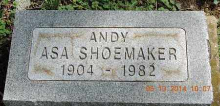 SHOEMAKER, ASA - Pike County, Ohio | ASA SHOEMAKER - Ohio Gravestone Photos