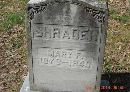 SHRADER, MARY F. - Pike County, Ohio | MARY F. SHRADER - Ohio Gravestone Photos