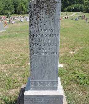 SHROPSHIRE, THOMAS - Pike County, Ohio | THOMAS SHROPSHIRE - Ohio Gravestone Photos