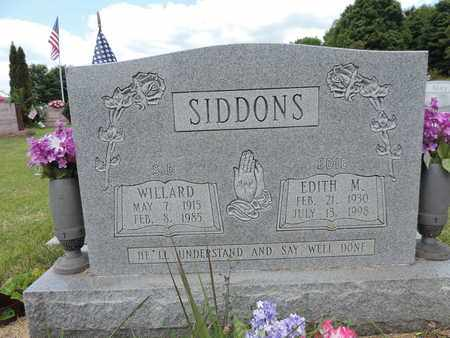 SIDDONS, WILLARD - Pike County, Ohio | WILLARD SIDDONS - Ohio Gravestone Photos