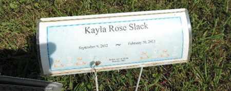 SLACK, KAYLA ROSE - Pike County, Ohio | KAYLA ROSE SLACK - Ohio Gravestone Photos