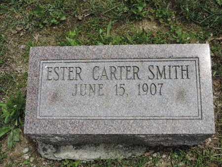 CARTER SMITH, ESTER - Pike County, Ohio | ESTER CARTER SMITH - Ohio Gravestone Photos