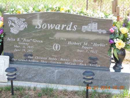 SOWARDS, HERBERT - Pike County, Ohio | HERBERT SOWARDS - Ohio Gravestone Photos