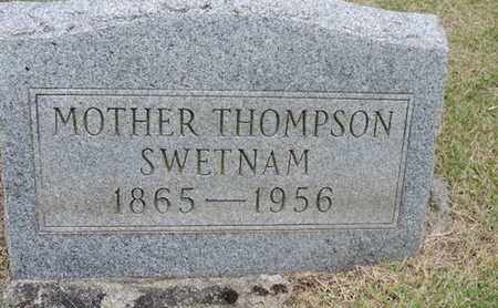 SWETNAM, MOTHER - Pike County, Ohio | MOTHER SWETNAM - Ohio Gravestone Photos
