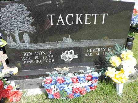 TACKETT, DON R. - Pike County, Ohio | DON R. TACKETT - Ohio Gravestone Photos