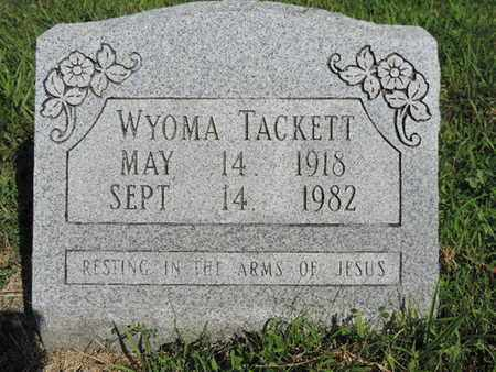 TACKETT, WYOMA - Pike County, Ohio | WYOMA TACKETT - Ohio Gravestone Photos