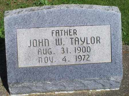 TAYLOR, JOHN W. - Pike County, Ohio | JOHN W. TAYLOR - Ohio Gravestone Photos