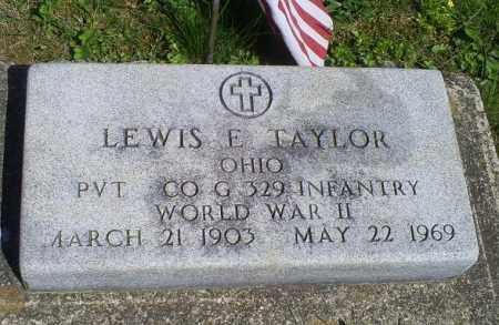 TAYLOR, LEWIS E. - Pike County, Ohio | LEWIS E. TAYLOR - Ohio Gravestone Photos