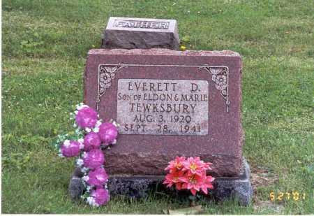 TEWKSBURY, EVERETT D. - Pike County, Ohio | EVERETT D. TEWKSBURY - Ohio Gravestone Photos