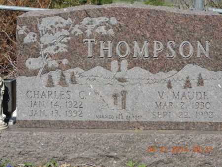 THOMPSON, V. MAUDE - Pike County, Ohio | V. MAUDE THOMPSON - Ohio Gravestone Photos