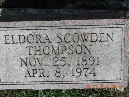 SCOWDEN THOMPSON, ELDORA - Pike County, Ohio | ELDORA SCOWDEN THOMPSON - Ohio Gravestone Photos